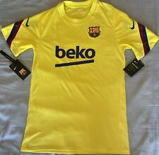 Nike FC Barcelona Solar Yellow Training Jersey. Adult Size: Small