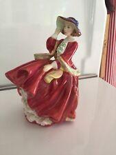 "Vintage Royal Doulton ""Top o' the Hill"" Porcelain lady figure red dress Hn1834"