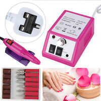 Professional Electric Acrylic Nail Art File Drill Manicure Machine Sand Set Tool