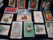 15 Vintage Unused Christmas Holiday Cards, Some Angels