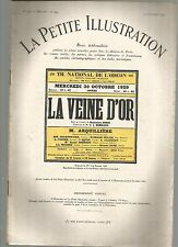 LA PETITE ILLUSTRATION N°245 - LA VEINE D'OR DE G. ZORZI - PIECE EN 03 ACTES