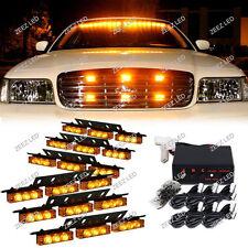 54 Amber/Yellow LED Warning Flash Strobe Light Bar Emergency Deck Dash Grille#06