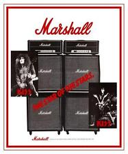 KISS  *LARGE POSTER*  Marshall Tube Amp Ace Frehley PROMO ad Paul Stanley guitar