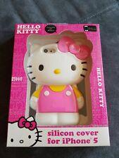 """HELLO KITTY"" SANRIO SILICON DECO COVER APPLE IPHONE 5 PHONE CASE PINK WHITE LG"