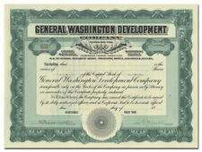 General Washington Development Company Stock Certificate