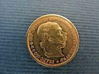 1905  AUSTRIA GOLD COIN 10 CORONA UNCIRCULATED 3.38 GRAMS EMPEROR JOSEPH