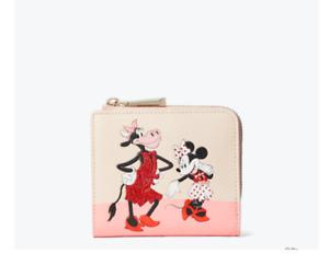 Kate Spade Disney Minnie Clarabella L Zip Bifold Wallet Limited Edition New $110