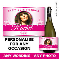 PERSONALISED champagne PROSECCO photo bottle label birthday any occasion 157