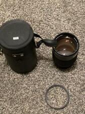Konica Hexanon AR 135mm f/2.5 Fast Prime Lens w/ Hood Filter Back Cap + Case!!