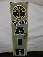 Antique style-porcelain look Polly gas oil gas dealer pump sign free air