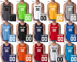 CUSTOM Tank Top JERSEY Personalized ANY COLOR Name Number Team Basketball S-3XL
