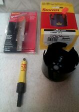 "Lot of 2 NEW Starrett  Hole Saw 76mm- 3"" Carbide Tipped & QuickShot 9/16"" 14mm"