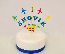 Personalizzata Treno e piano di Compleanno/Celebrazione/battesimo cake topper