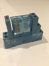 Finder 40.52 Din Mount Relay and 95.75 Base With LED