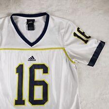 Adidas Boys Medium Michigan Wolverines  16 Football Jersey NCAA White 9d11e7543