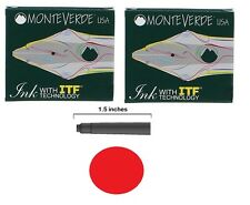 12 Monteverde International Standard Fountain Pen Ink Cartridges - Red