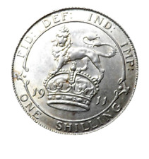 More details for 1911 george v silver shilling coin - high grade - great britain