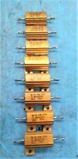 8 QTY USED Dale Vishay RH-25  /  20 W / 374 OHM 1%  Wirewound Resistor