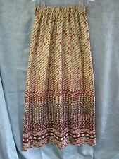 Original 60's Polyester Maxi Skirt Size 8 High Waist Long MOD Geometric Print