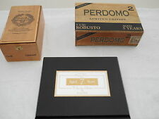 Funky Cigar Box lot #3 wooden Rocky Patel, Park Avenue, and Perdomo