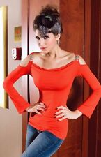 New Red Party Long Sleeves Club Top