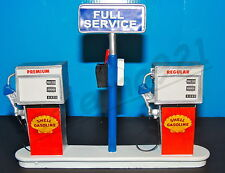 SHELL Service Station Gas Pump Island(Ready to Display) 1:18-1:24 Scale NWB