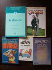 Lot de 5 livres sur le divorce