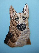 IRON-ON EMBROIDERED PATCH - GERMAN SHEPHERD HEAD - DOG