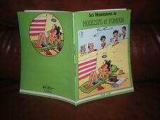LES MESAVENTURES DE MODESTE ET POMPON N°3 - EDITION ORIGINALE MAGIC STRIP 1980