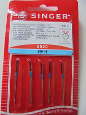 SINGER 2020 90/14 SEWING MACHINE NEEDLES PACK of 5 FOR WOVEN FABRICS FREE P/P