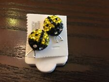 New Stud Earring 925 Silver with Crystals Ladybug