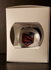 "2015 New England Patriots Ornament ""4X World Champions"" New in Box"