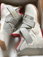 Nike Lebron Soldier XII Mens Shoes 14 Light Bone Red New ao2609002