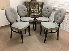 Newly reupholstered  Scandinavian style 4 Dining Chairs (blended wool fabric)