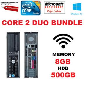 WINDOWS 7 FAST DELL OPTIPLEX 780 DESKTOP PC COMPUTER CORE 2 DUO E8400 @ 3.00GHz
