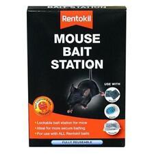 Rentokil Mouse Mice Bait Station Lockable, Safe Bait Treatment, Fully Re-Useable