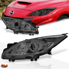 For 10 13 Mazda 3 Projector Headlightlamp Replacement Smoked Lens Clear Corner Fits Mazda 3