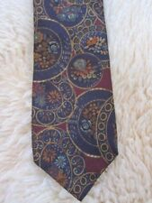 Vintage Rivetz of Boston Silk Tie Yale CO-OP New Haven Made USA~Floral Circles