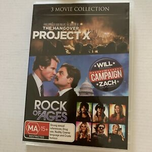 The Project X / The Campaign / Rock Of Ages (DVD) Region 4