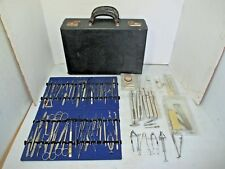 Leather Case & Ophthalmic Surgical Instruments - Storz, Sklar, Mueller, Cullman