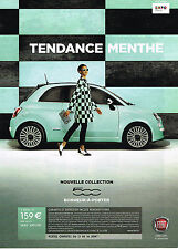 PUBLICITE ADVERTISING 045  2014  FIAT 500  tendence menthe