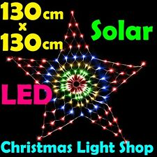 Multicoloured Solar LED STAR Net Light Outdoor Christmas Garden Decoration
