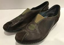 CLARKS Indigo Womens Shoes Brown Slip Ons Leather Size 10