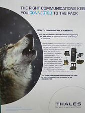 4/2007 PUB THALES COMMUNICATIONS LOUP WOLF MBITR MULTIBAND RADIO AN/PRC-148 AD