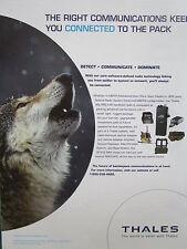 4/2007 PUB THALES COMMUNICATIONS LOUP WOLF MBITR MULTIBAND RADIO AN/PRC-148 AD