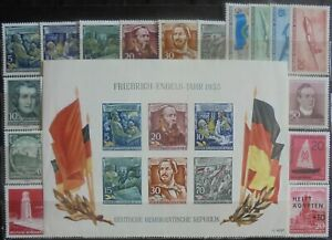 GERMANY (East) DDR 1955-56 Collection of 35 + Mini-Sheet MNH