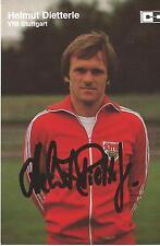 Autogramm AK Helmut Dietterle VfB Stuttgart 80er Jahre  Co-Trainer CD-Verlag oB