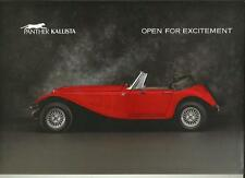 PANTHER KALLISTA SALES BROCHURE AND PRICES 1985