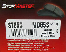 BRAND NEW STOP MASTER BRAKE PADS MD653 / D653 FITS VEHICLES ON CHART