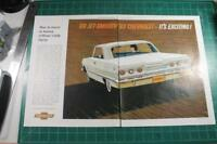 Vintage ad 1963 Chevy Impala 2 pg Color Great ad!